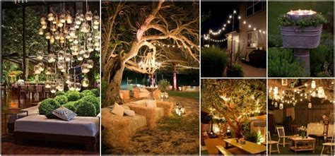 outdoor lighting ideas   shabby chic garden