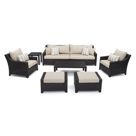 rst brands deco 8 patio seating set with slate grey