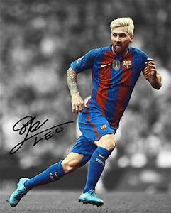 Lionel Messi 2017 Barcelona FC Captain Signed Photo ...
