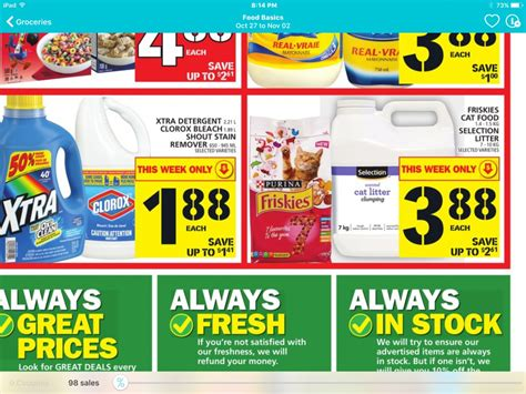 cuisine promotion food basics ontario friskies cat food 88 cents after