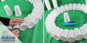 Basteln Mit Plastikbechern : schneemann basteln aus tollen materialien mit vorlage ~ Watch28wear.com Haus und Dekorationen