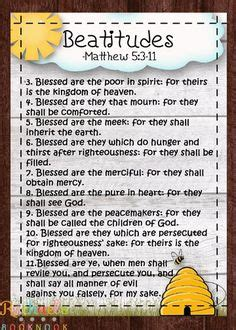beatitudes crossword puzzle children bible lessonsgifts