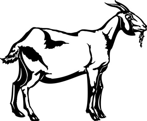 goat clipart black and white clipart farm cliparts co