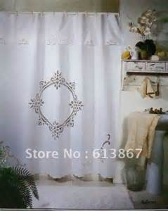 70 quot 72 quot vintage cotton handmade battenburg lace shower curtain with hooks white