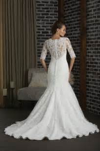wedding dresses with sleeves and lace mermaid lace wedding gown with sleeves ipunya