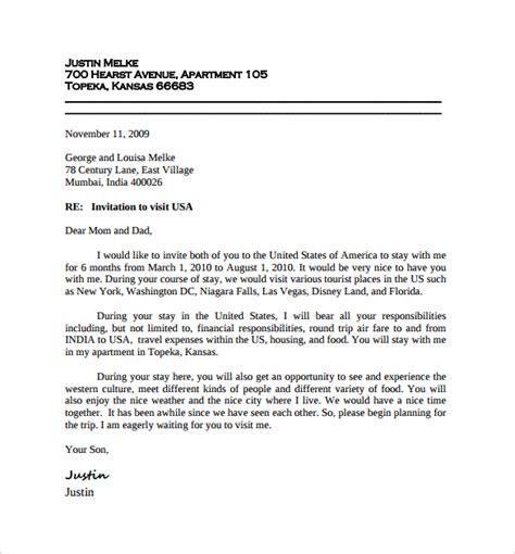 invitation letter for visitor visa 10 invitation letters for us visa pdf word sle templates 71382