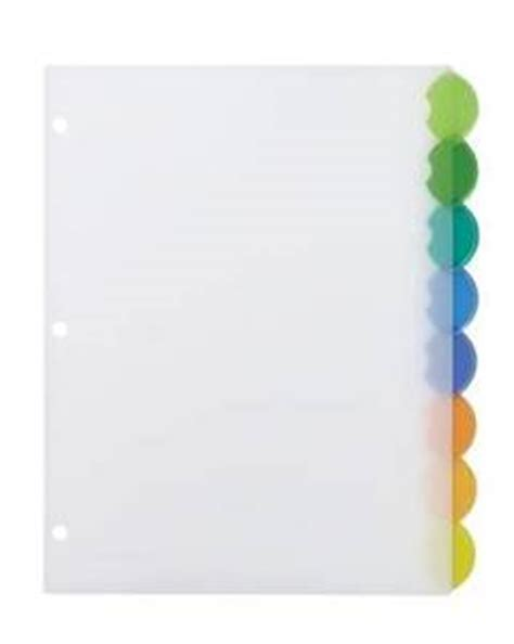 Avery Style Edge Insertable Dividers 8 Tab Multicolor Tabs