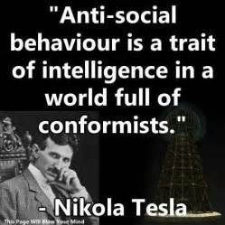 Tesla anti-social quote