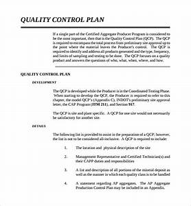 Sample Quality Control Plan Template