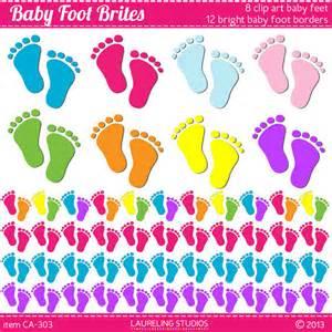 Baby Feet Borders Clip Art