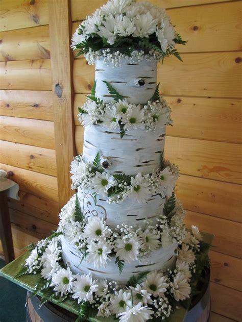 White Birch Tree Bark Cake Wedding Pinterest