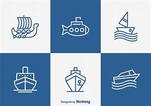Free Outlined Boat And Ship Vector Icons - Download Free ...