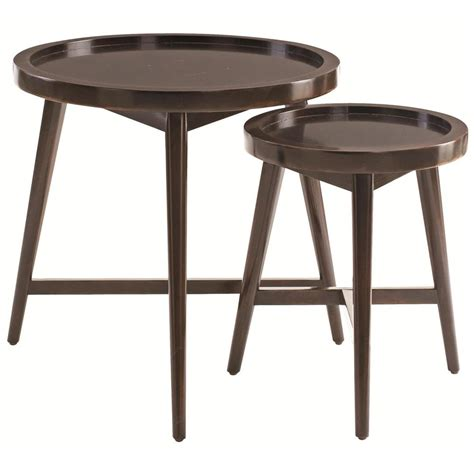 mahogany nesting tables junya rustic lodge molasses mahogany nesting side tables 3968