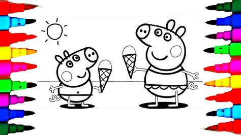 Learn Art L How To Draw And Color L Peppa Pig Drawing