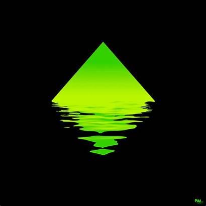 Reflection Animation Triangle Diamond Waves Water Animated