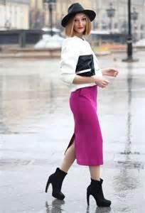 Midi Pencil Skirt Style