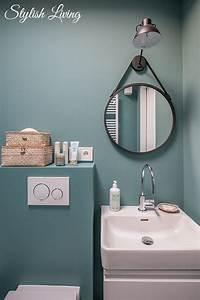 Click Licht De : kleines bad in farbe mit wandleuchte lena von click werbung stylish living ~ Orissabook.com Haus und Dekorationen