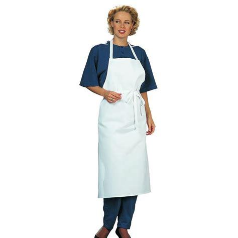 tablier blanc de cuisine tablier cuisine à bavette restaurant bistro blanc coton