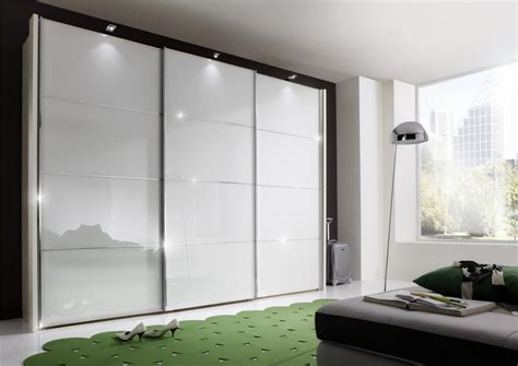Modern Wardrobe by Stylform Florida 150 400cm White Black Magnolia Glass