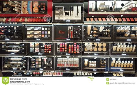 products shop shelves editorial stock photo