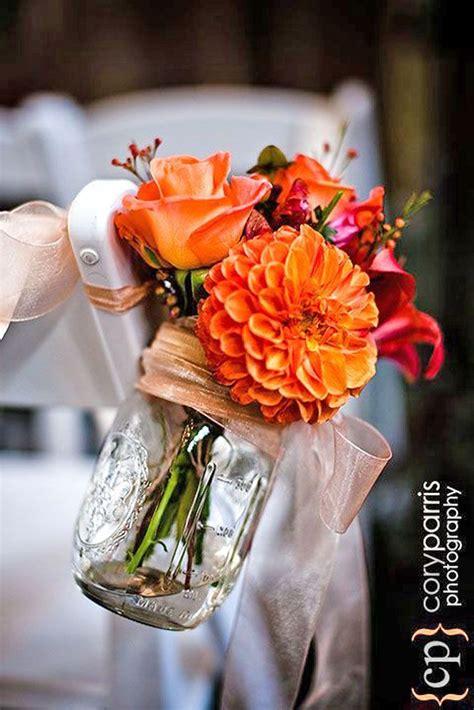 ideas  orange wedding decor  pinterest