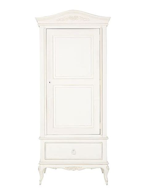 White Single Wardrobe With Drawers by Shabby Chic Primrose Single Wardrobe With Drawer House