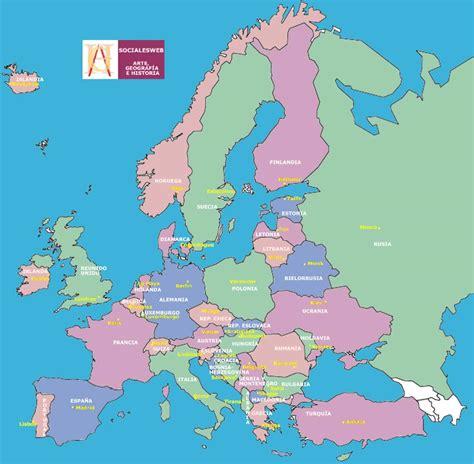 Capitales Paises Europa Mapa