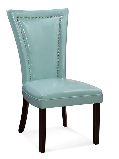 parsons dining chairs with nailheads bassett mirror flair nailhead parsons chair beyond stores