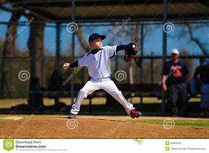 Youth Baseball Pitcher In Wind Up Royalty Free Stock ...