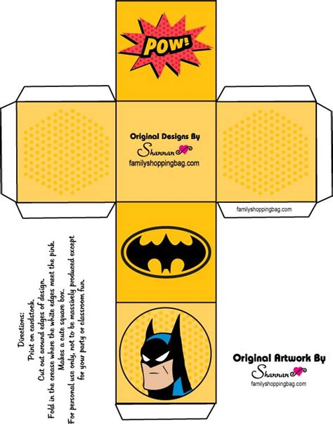 batman gift box template 17 best images about printies mini boxes on pinterest
