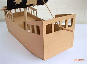 cardboard pirate ship template With cardboard pirate ship template