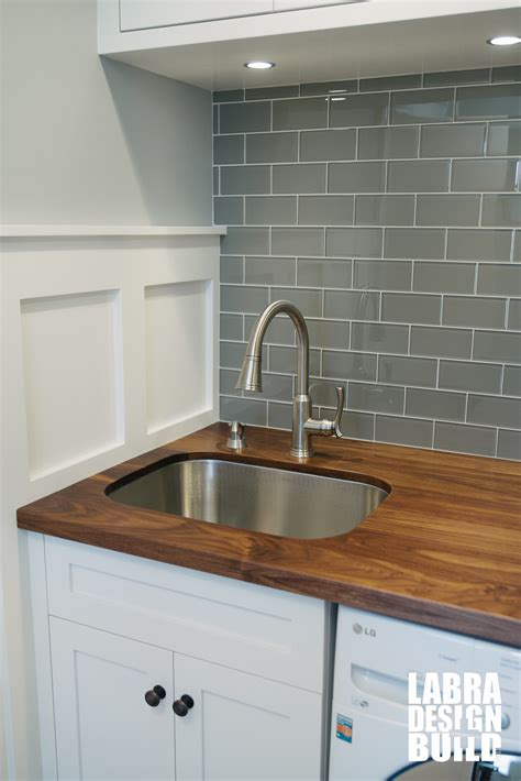 white cabinets with wood countertops walnut wood countertop with undermount sink on white