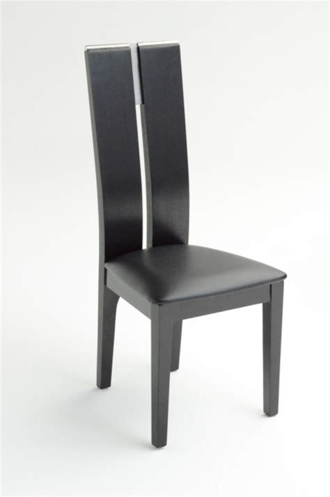 modrest maxi black oak dining chair set of 2