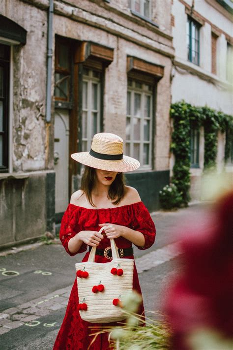 summer outfit dress espadrilles midi vacation perfect cute cherry couturezilla france hat europe wear travel end woman european during french