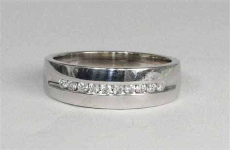 mens wedding ring size v estate 14k white gold mens wedding band ring size 10 5 0 15ctw ebay