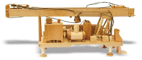 water  drill rig woodworking pattern approx