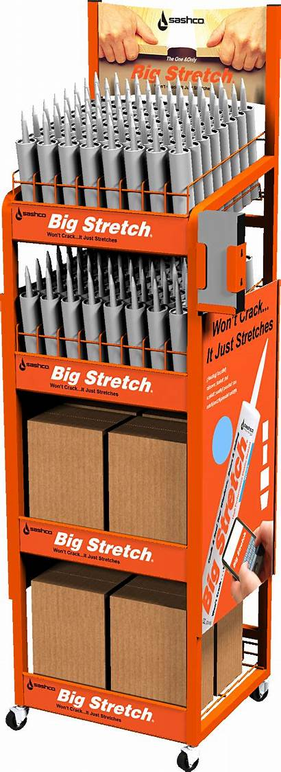 Rolling Displays Caulk Rack Display Retail Stand