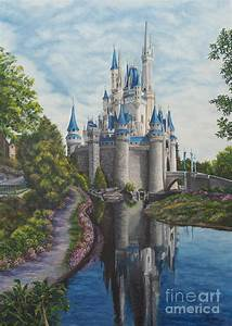 Cinderella Castle Painting by Charlotte Blanchard