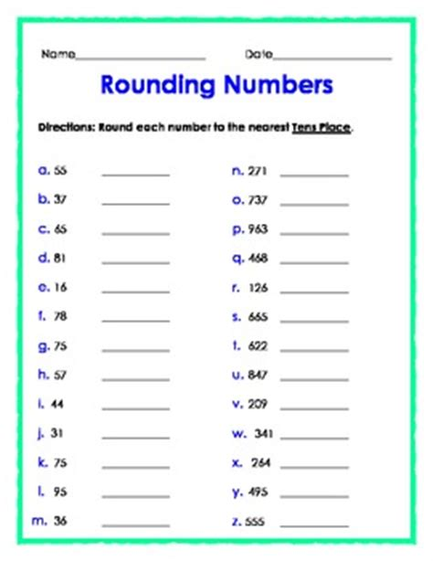 Rounding Numbers To The Nearest Tens Place By The Teacher Treasury