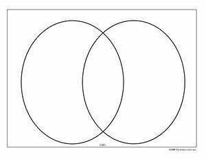 Basic 2-ring Venn Diagram Graphic Organizer