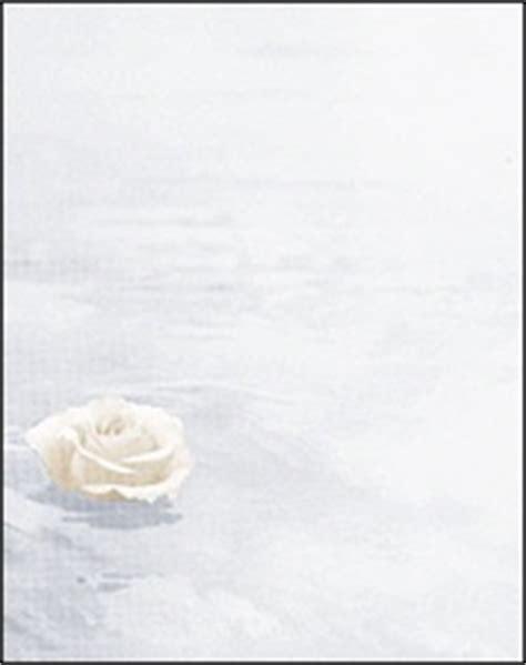 trauerkarten schwimmende rose ohne texteindruck