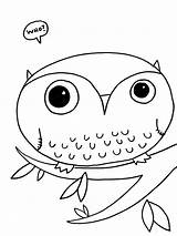 Owl Coloring Pages Printable Owls sketch template