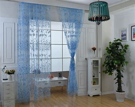 Chiffon Gauze Voile Wall Room Divider Floral Printed Curtain 100cm X 270cm Double Curtain Rod Patio Door Window Curtains Types Sliding Panels Hardware Swag With Fringe Trim Shabby Chic Fabric Uk Mahogany Wooden Pole What Color Goes Gray Walls Shower Liner 78