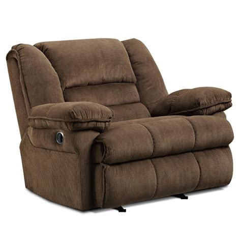 furniture comfortable brown microfiber recliner