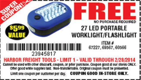 free tools harbor freight in store