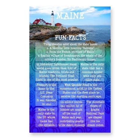 maine fun facts postcard