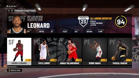 NBA 2K19: Toronto Raptors Player Ratings and Roster ...