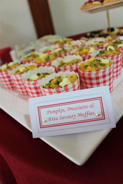 savoury food ideas tea kitchen tea bridal