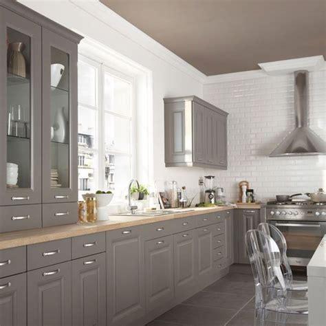 cuisine cooke lewis candide gris taupe castorama r 233 novation cuisine meuble
