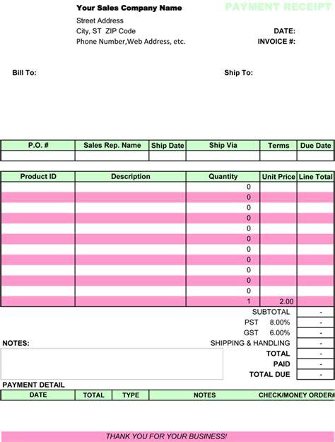 payment receipt templates   organization